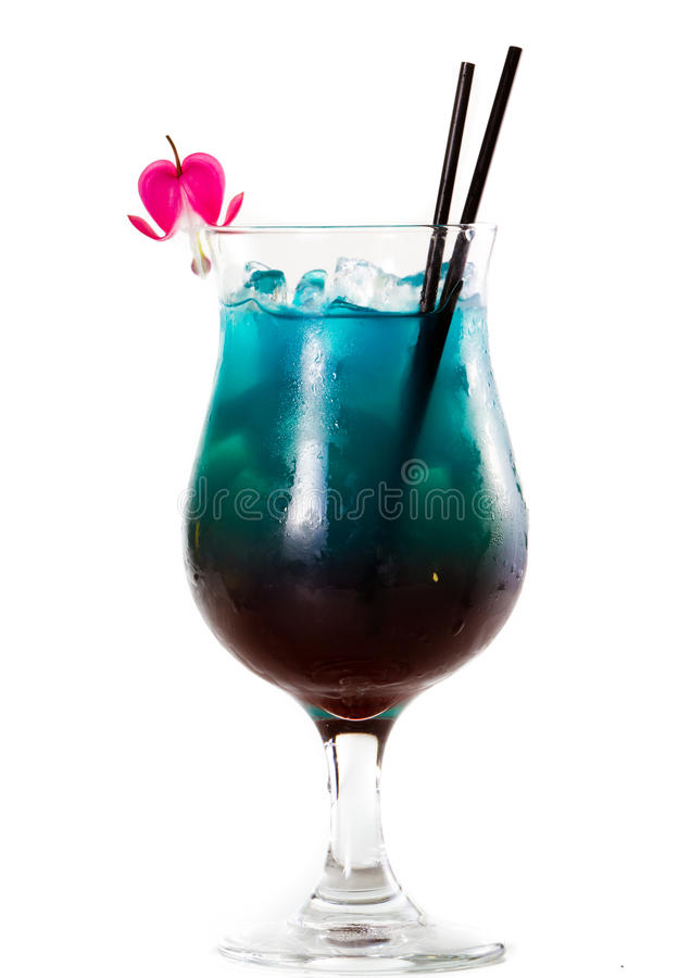 Coktail för fruktsaft för tropisk frukt arkivbild