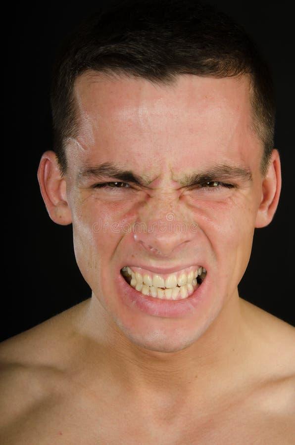 Colère et rage L'homme est fâché photographie stock libre de droits