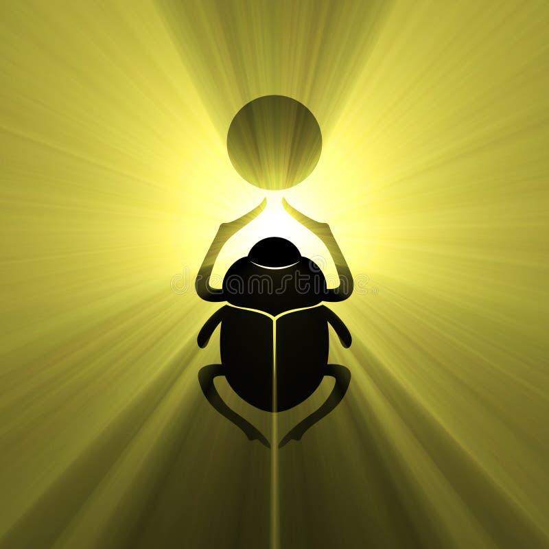 Coléoptère égyptien de scarabée de symbole illustration libre de droits