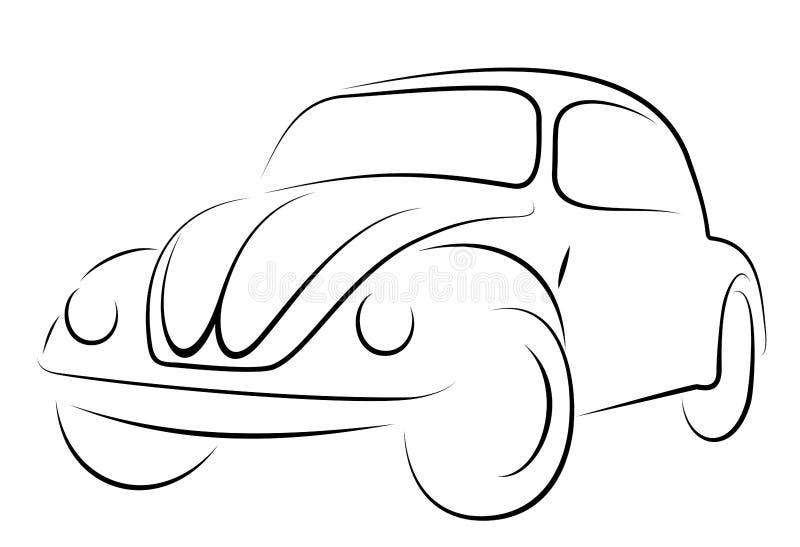 Coléoptère de Volkswagen de véhicule illustration de vecteur
