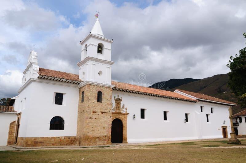 Colômbia, arquitetura colonial de Casa de campo de Leyva fotos de stock