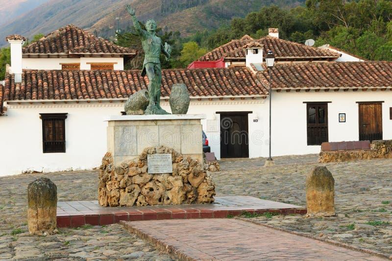 Colômbia, arquitetura colonial de Casa de campo de Leyva fotografia de stock