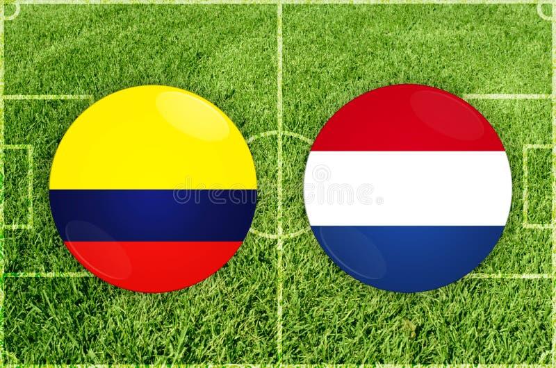 Colômbia contra o fósforo de futebol de Paraguai ilustração stock