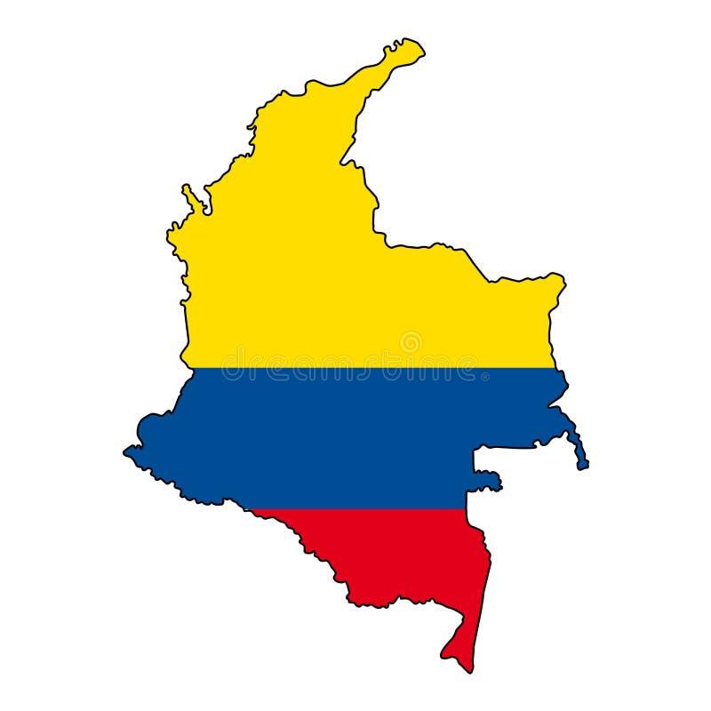 colômbia Mapa da ilustração do vetor de Colômbia ilustração do vetor