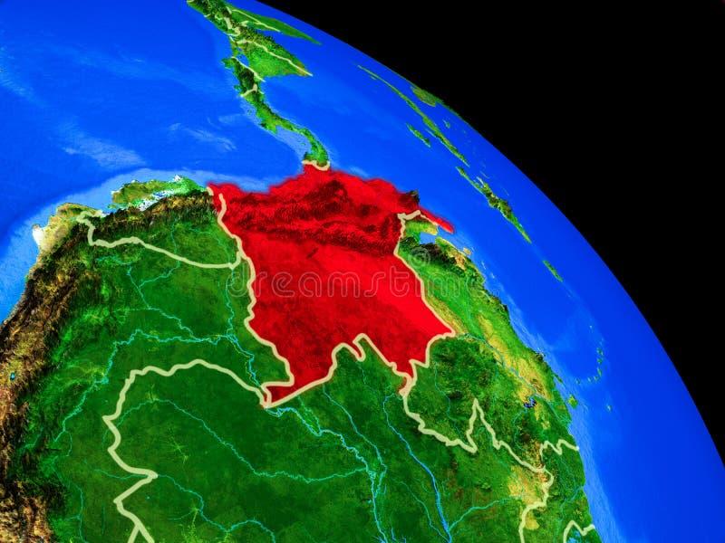 Colômbia na terra do planeta ilustração royalty free