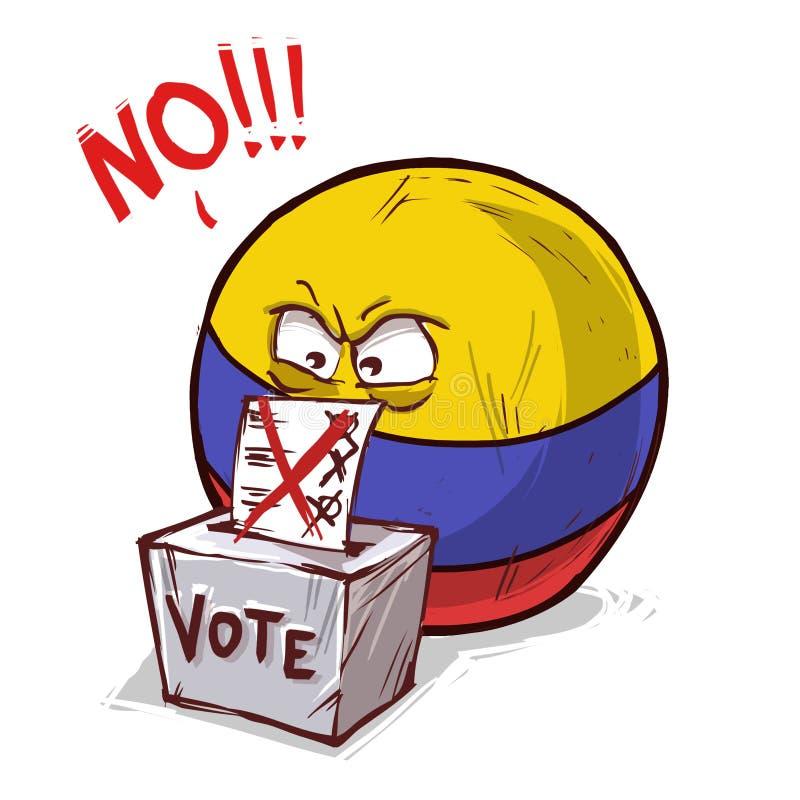 Colômbia que vota não ilustração royalty free