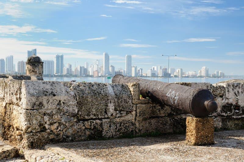 Colômbia, vista no Cartagena novo foto de stock royalty free