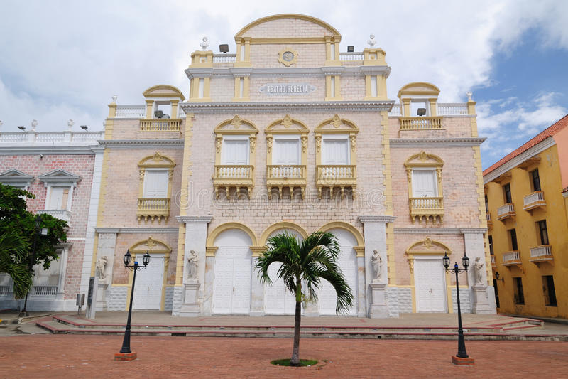 Colômbia, vista no Cartagena velho imagens de stock
