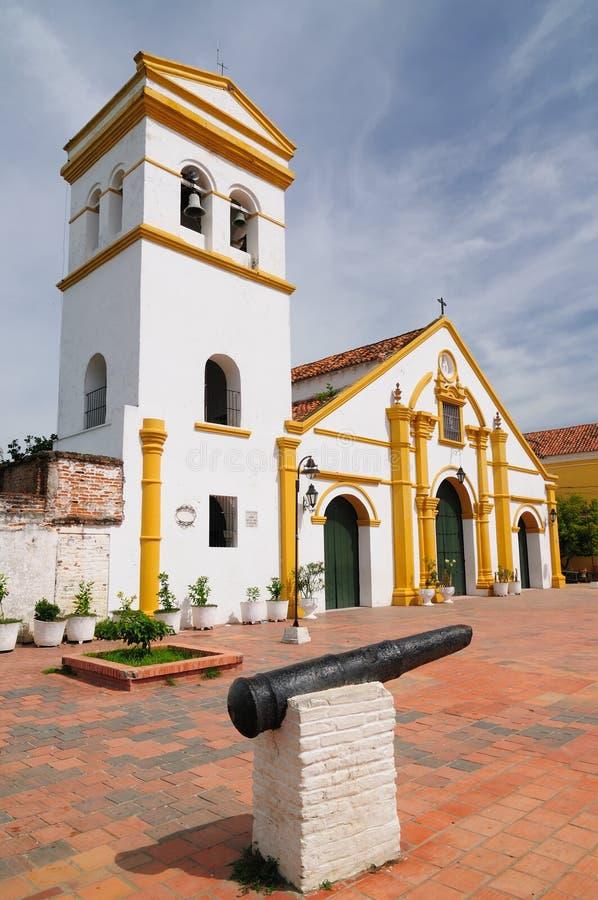 Colômbia, vista no Mompos velho imagens de stock royalty free