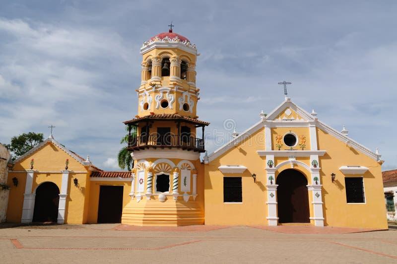Colômbia, vista no Mompos velho foto de stock