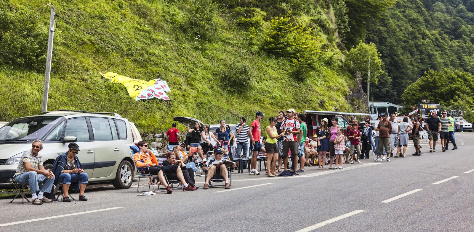 Download Fans On The Roads Of Le Tour De France Editorial Photography - Image of waiting, road: 30247802