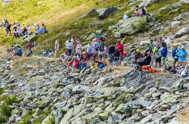 Spectators - Tour de France 2015 stock photo