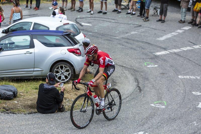 The Cyclist Adam Hansen - Tour de France 2015 royalty free stock photos