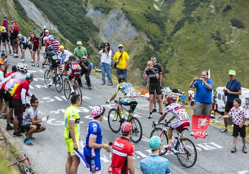 Group of Cyclists - Tour de France 2015 stock images