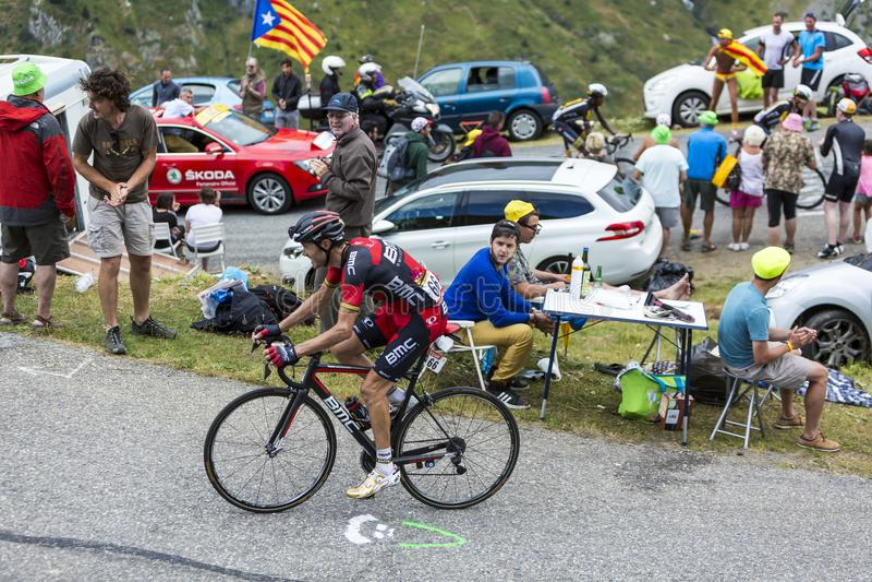The Cyclist Samuel Sanchez - Tour de France 2015 royalty free stock photos