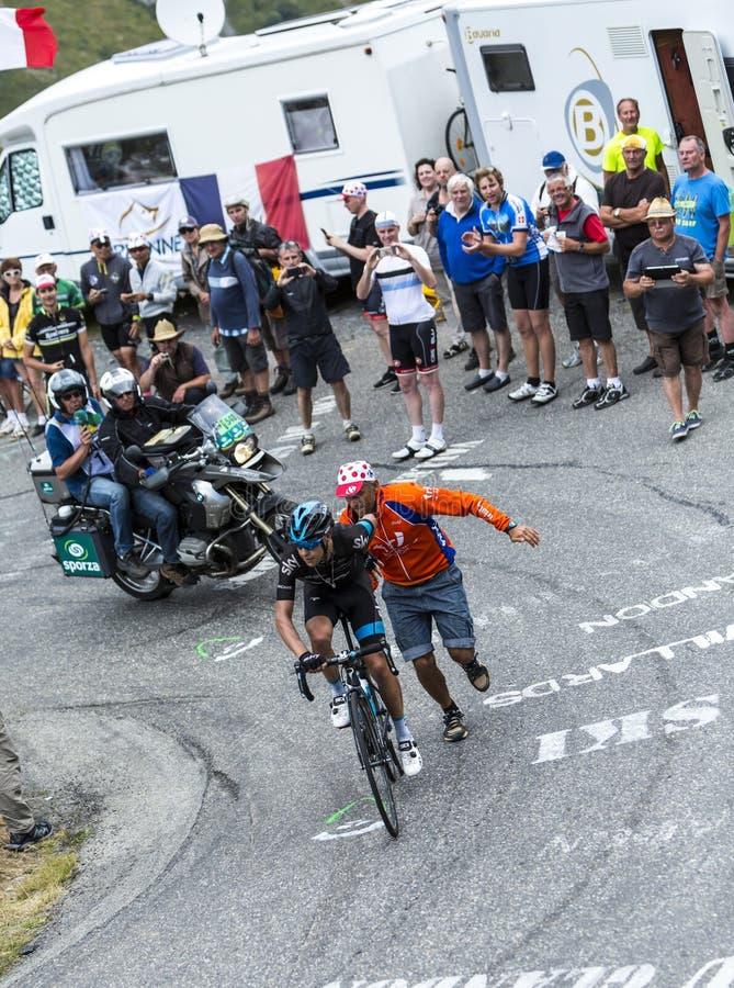 The Cyclist Richie Porte - Tour de France 2015 stock photos
