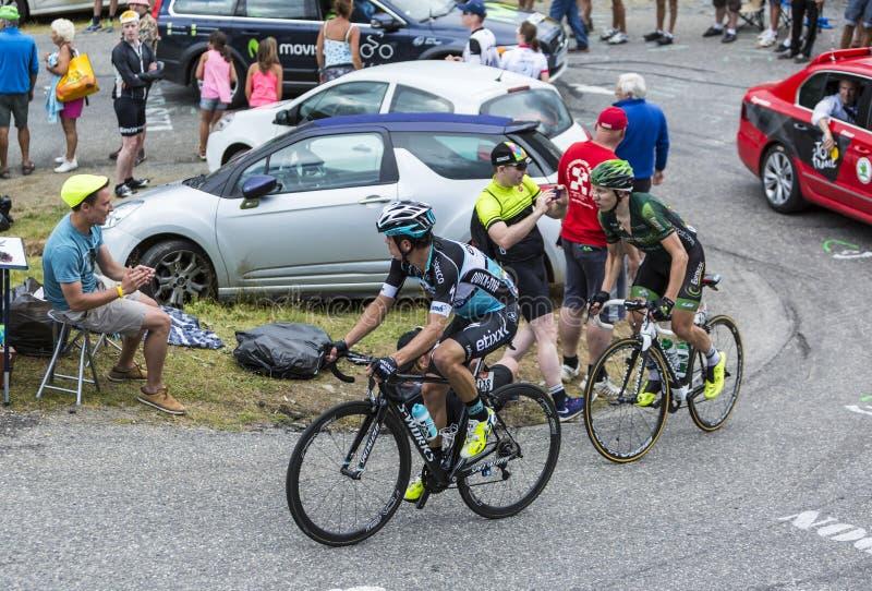 Two Cyclists - Tour de France 2015 stock photo