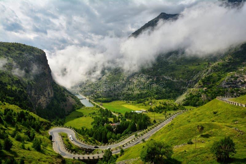 Col du Mont Cenis, Франция стоковые изображения