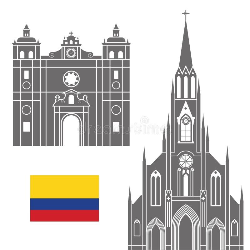 colômbia ilustração do vetor