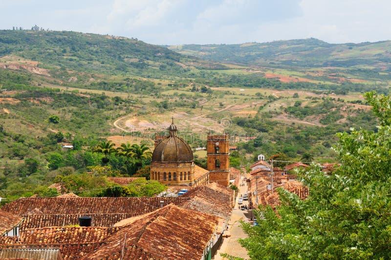 Colômbia, vila colonial de Barichara fotos de stock royalty free