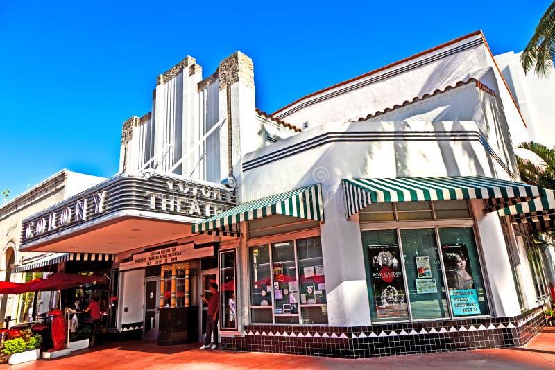 Colônia famosa Art Deco Theater im foto de stock royalty free