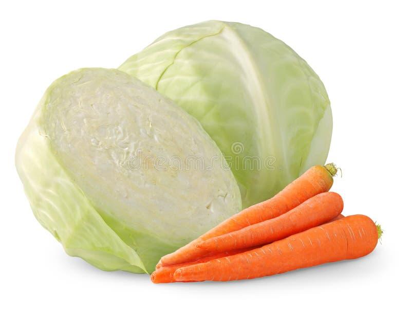 Col y zanahoria foto de archivo libre de regalías
