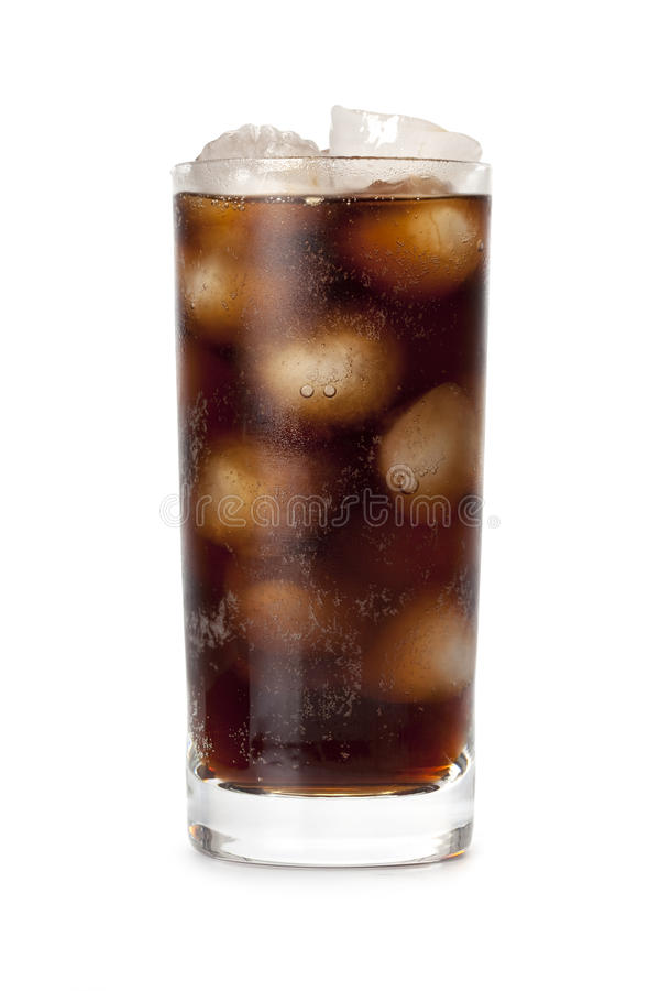 Cola - cold drink with ice stock photo