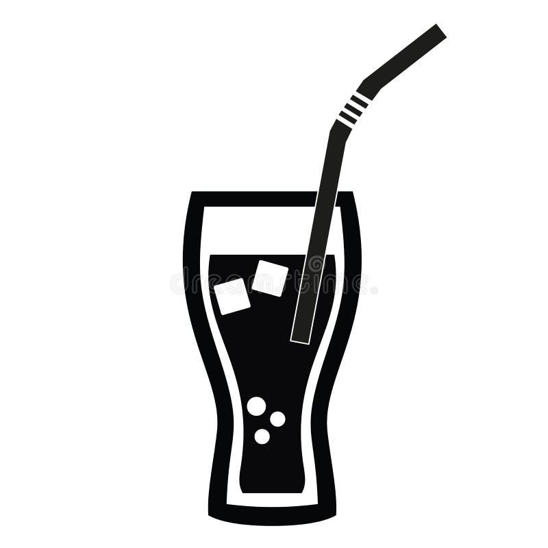 Cola com gelo Refresco ícone ilustração stock