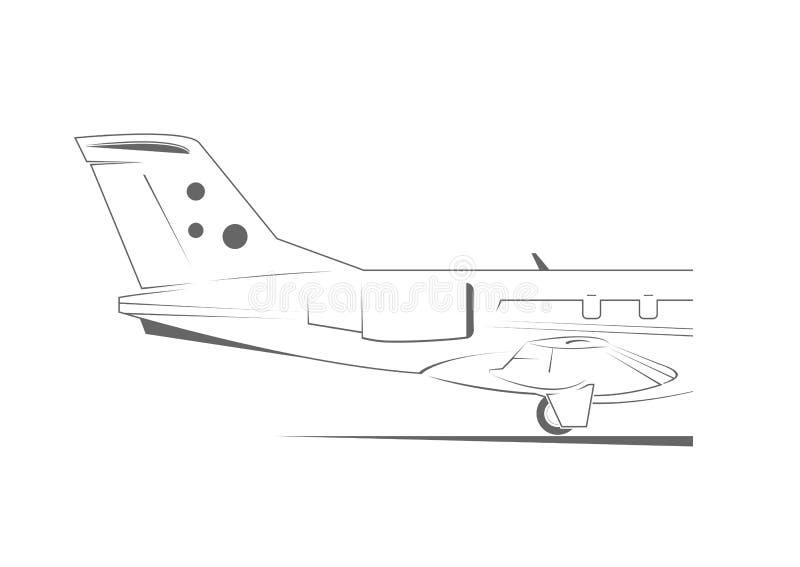 Cola del aeroplano stock de ilustración