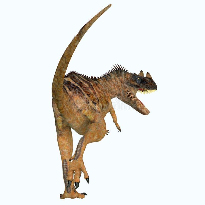 Cola del dinosaurio del Ceratosaurus stock de ilustración