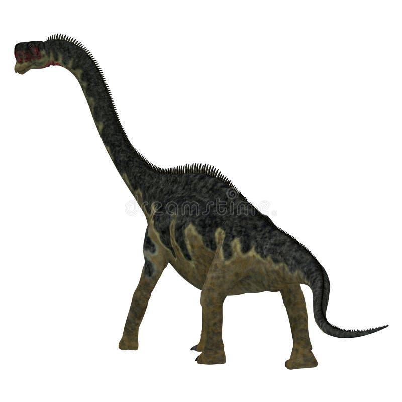 Cola del dinosaurio de Europasaurus ilustración del vector