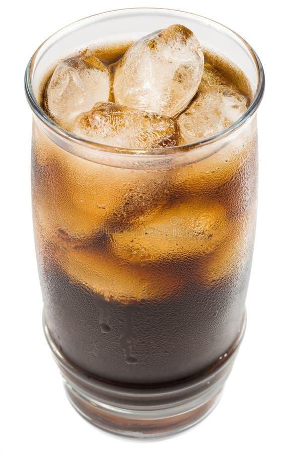 Cola efervescente fría con hielo foto de archivo libre de regalías