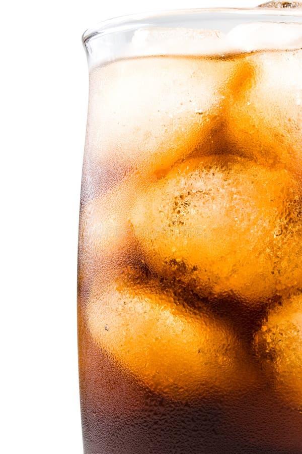 Cola efervescente fría con hielo fotografía de archivo