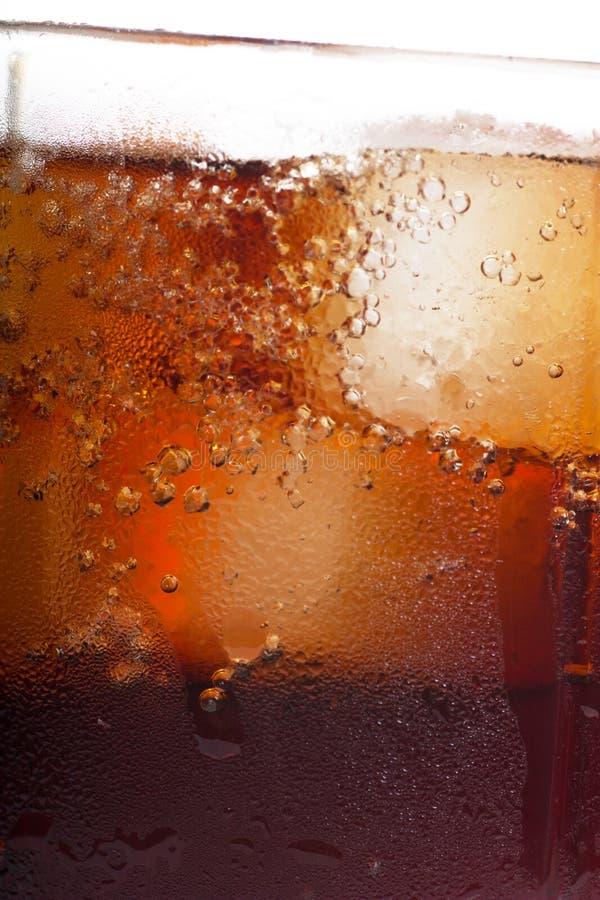 Cola fría con hielo fotos de archivo libres de regalías