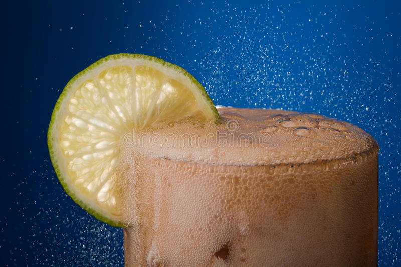 Cola With Froth Royalty Free Stock Photography