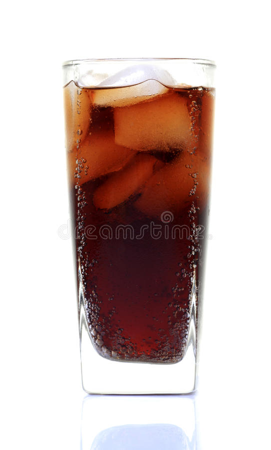 Cola glass stock photo