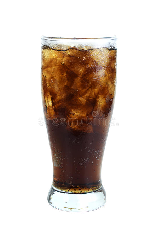 Cola in glass royalty free stock photos