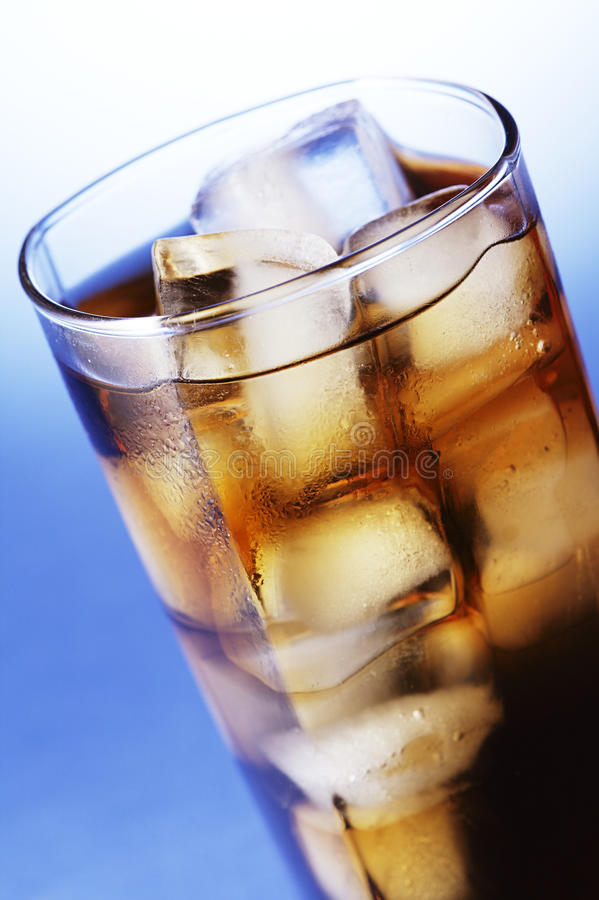 Download Cola with ice stock image. Image of pour, diet, photo - 23803065