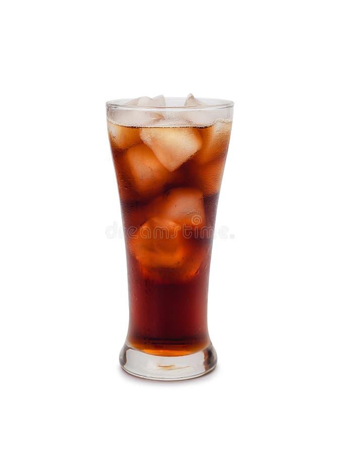 cola kostek lodu Ścinek ścieżka fotografia stock