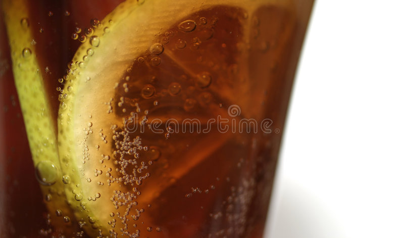 Cola - macro. Macro, shallow DOF royalty free stock photography