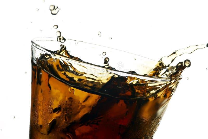 Cola no vidro imagens de stock