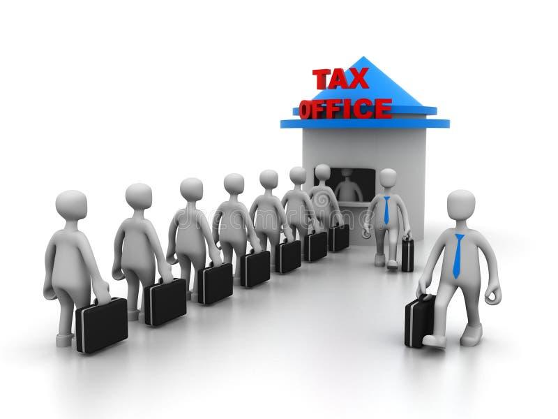 Cola para el pago de impuestos fotografía de archivo libre de regalías