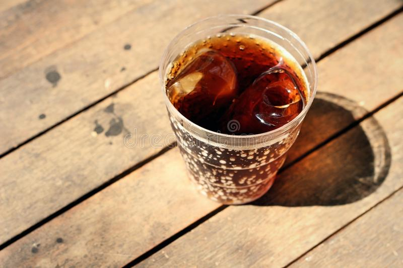 Cola on wooden stock image