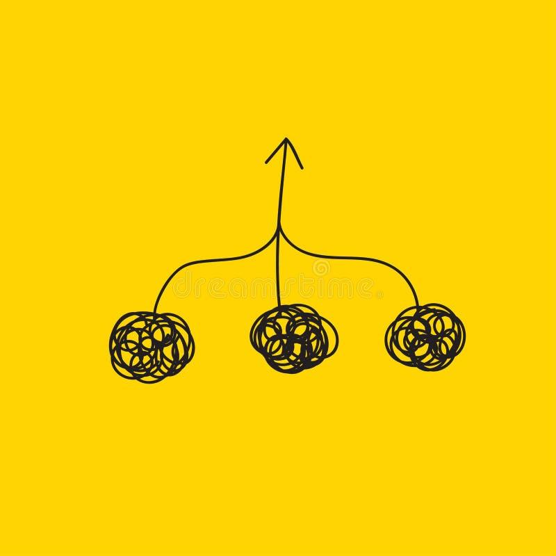 Colaboração do ícone do vetor ilustração do vetor