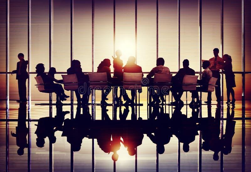 Colaboração Team Concept do negócio da conferência do seminário da reunião imagens de stock
