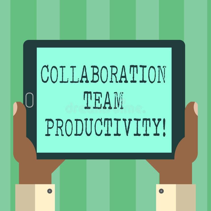 Colaboración Team Productivity del texto de la escritura El significado del concepto fijó las metas del equipo para el análisis c stock de ilustración