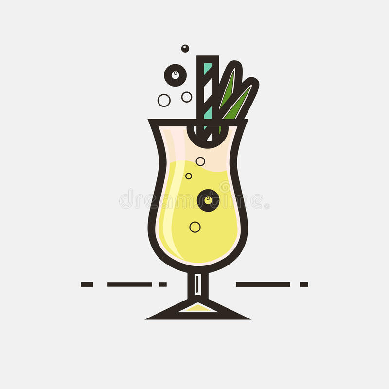 Colada de Pina de cocktail illustration stock