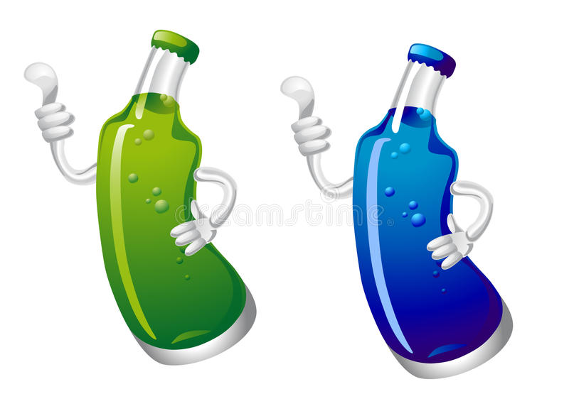 Coladrinkflaska vektor illustrationer
