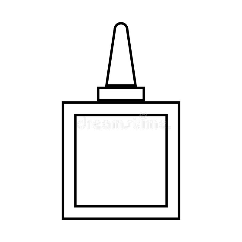Colagem é ícone preto ilustração stock