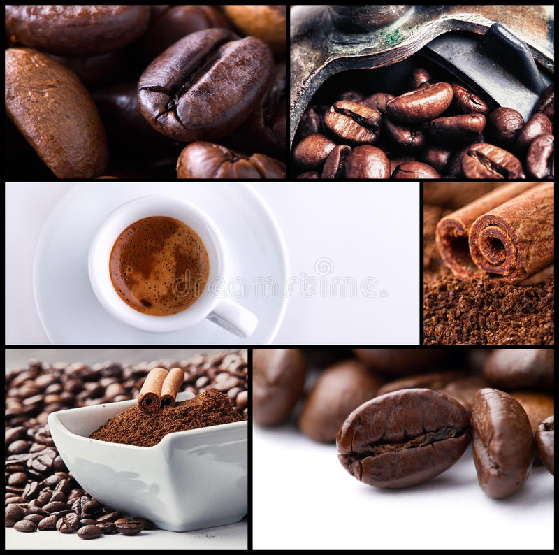 Colagem 2 do café imagens de stock